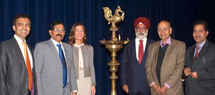 EWAC- Eröffnungszeremonie mit indischem Gesundheitsministers Shrepad Naik