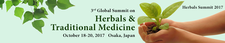 Banner 3rd Global Summit on Herbals & Traditional Medicine October