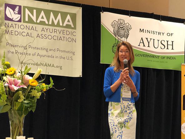Dr. med. Harsha Gramminger at the NAMA Conference 2018 in Dallas, Texas